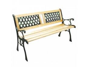 Zahradní lavička JADARA - černá/přírodní