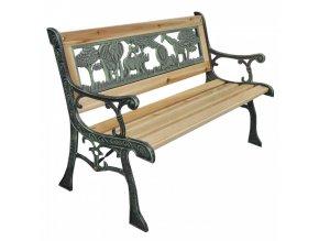 Dětská lavička NADAZA - černá/přírodní