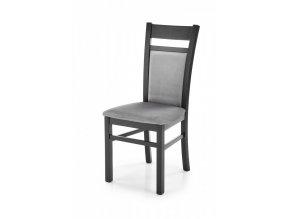 Jídelní židle GERARD 2 - černá/Monolith 85
