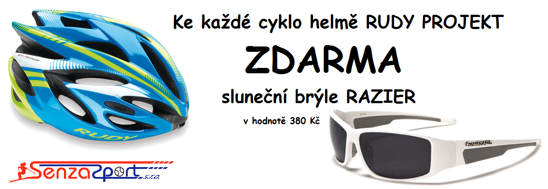 Akce helmy Rudy a brýle RAZIER