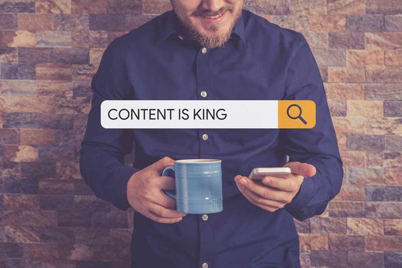 Obsah je král, v angličtině Content is King