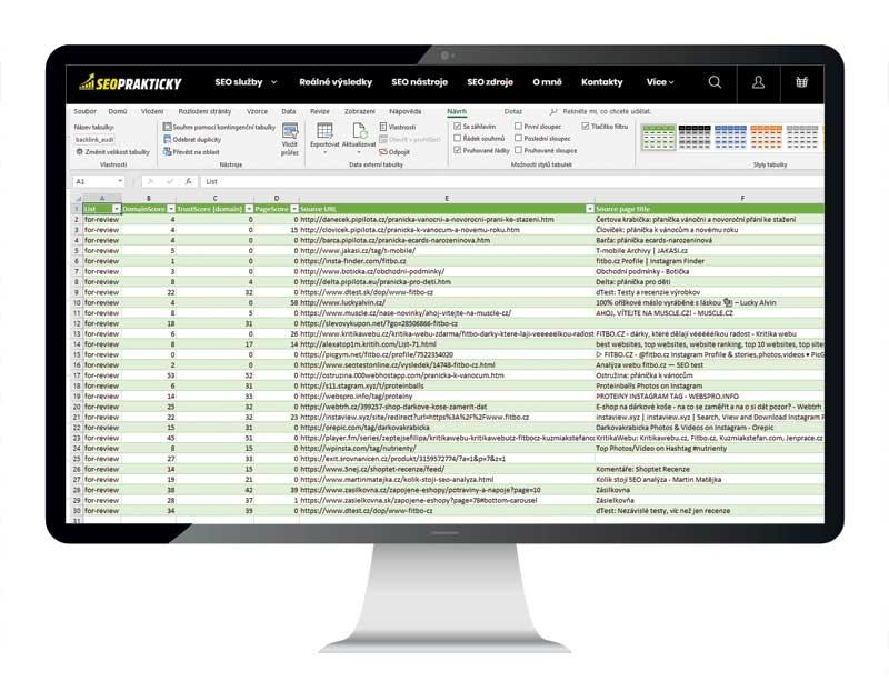 Analýza off-page faktorů - odkazové domény