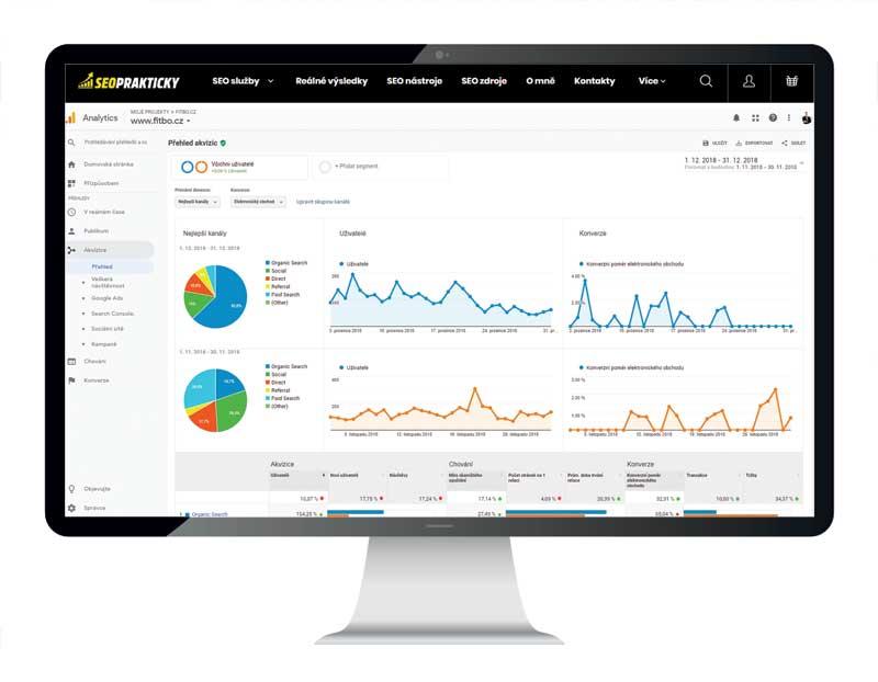 Srovnávací analýza v Google Analytics