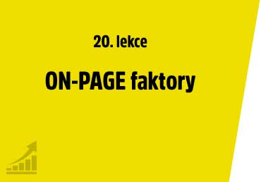 ON-PAGE faktory