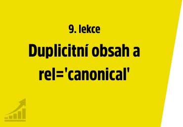 Duplicitní obsah a kanonické URL