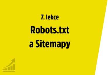 Robots.txt a Sitemapy