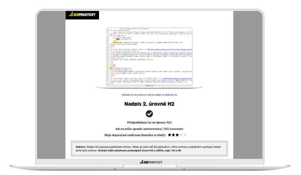 Analýza on-page faktorů - Nadpisy