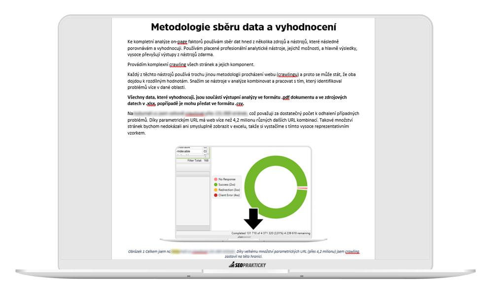 Vysvětlení metodologie sběru dat v technickém SEO