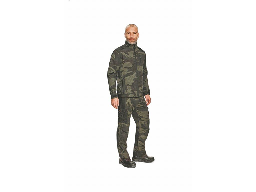 CRAMBE pánská softshellová bunda camouflage (Velikost/varianta 3XL)