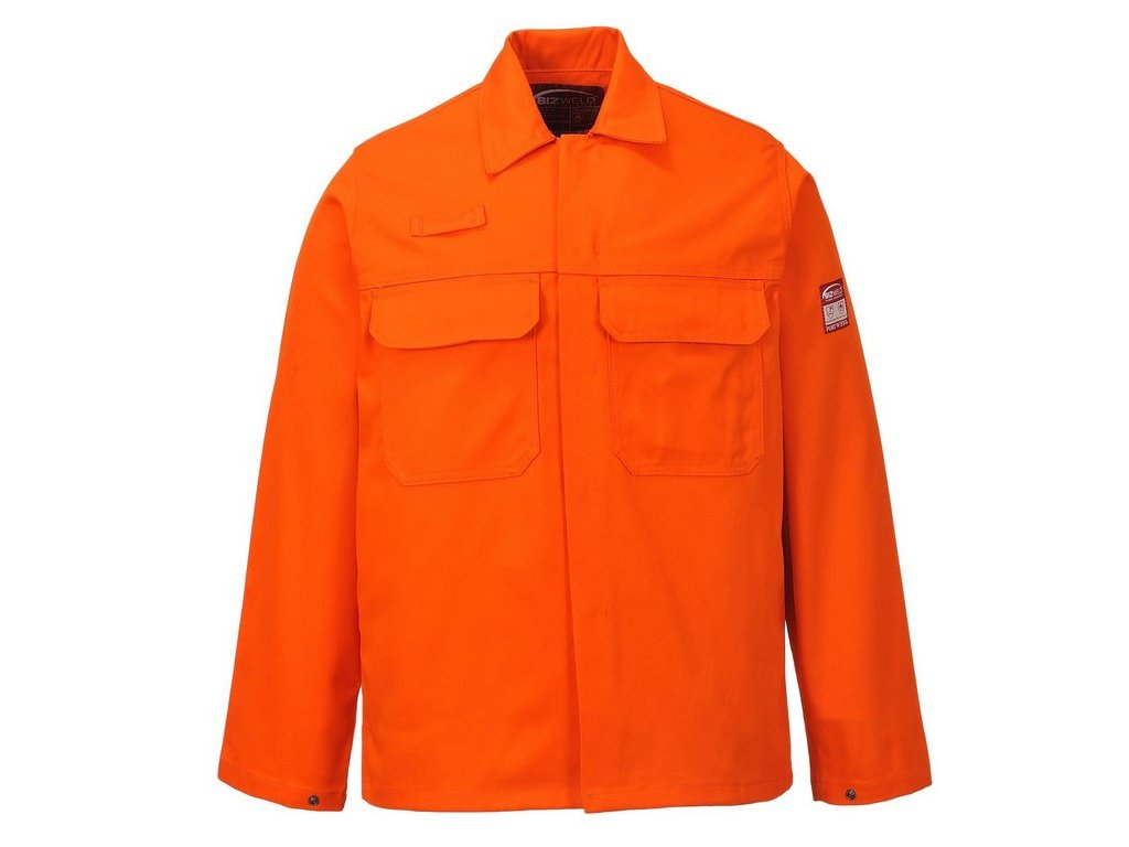 BIZWELD nehořlavá svářečská pracovní blůza oranžová (Velikost/varianta 3XL)