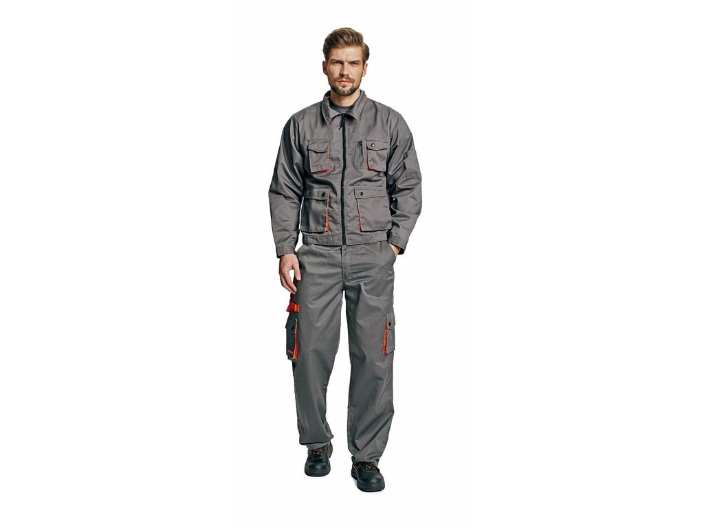 DESMAN montérková bunda šedá (Velikost/varianta 64)