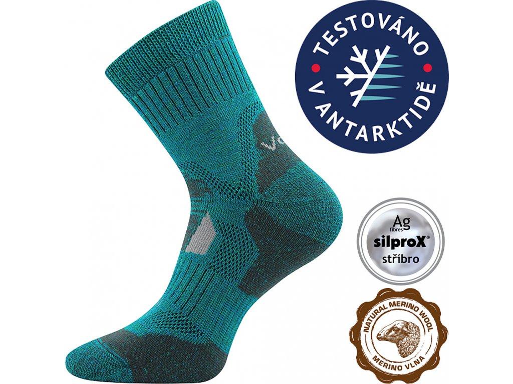 VOXX ponožky Stabil CLIMAYARN modro-zelená