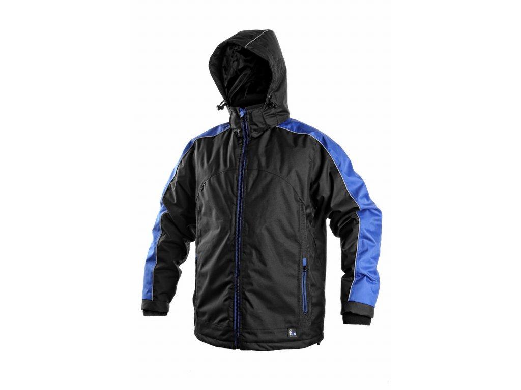 Canis CXS BRIGHTON zimní bunda černo-modrá (Velikost/varianta 4XL)