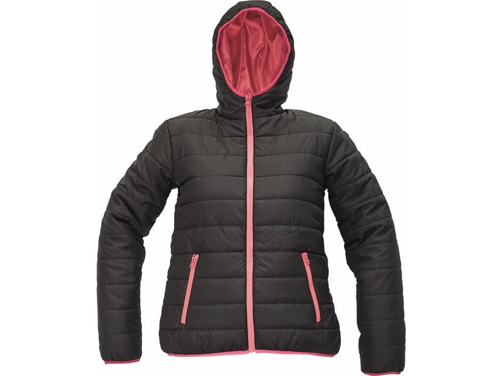 FIRTH LADY zimní bunda černo- růžová (Velikost/varianta 2XL)