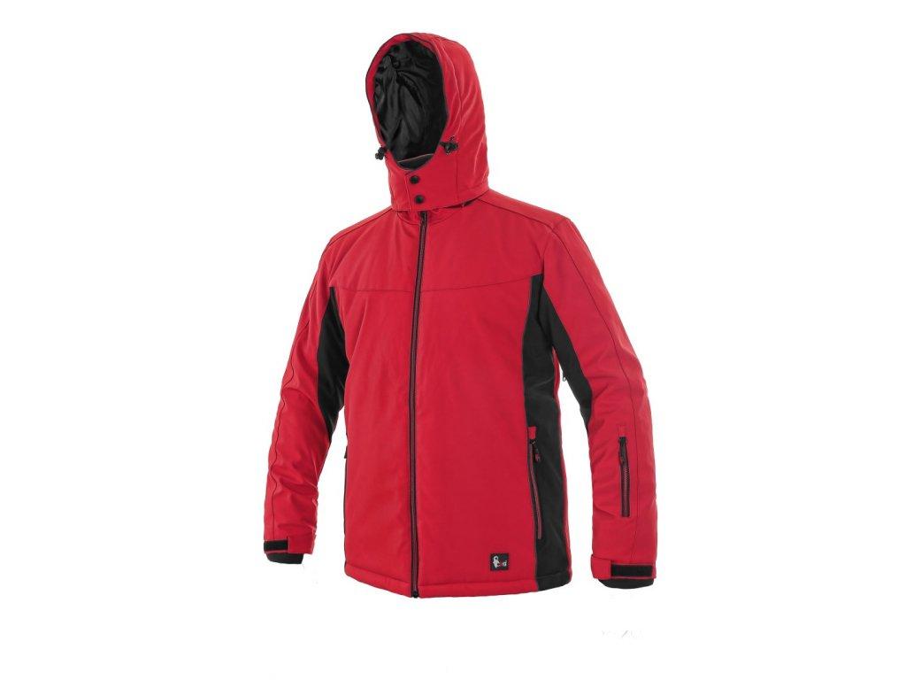 Canis CXS VEGAS zimní softshellová bunda červená černá (Velikost/varianta 3XL)