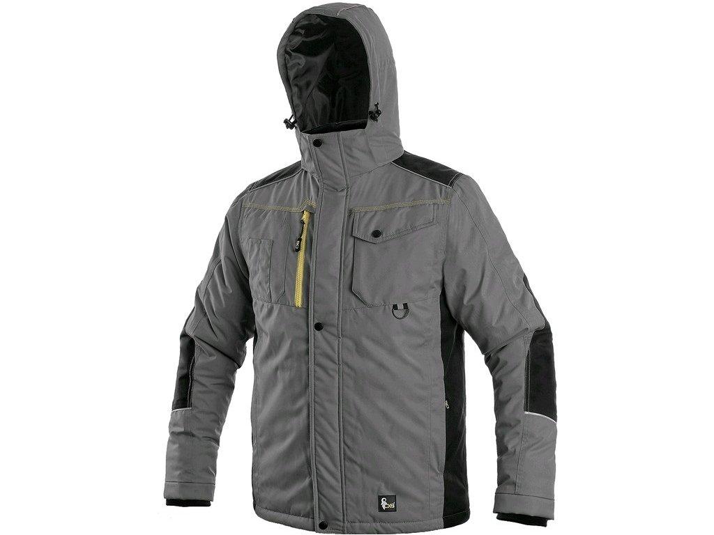 BALTIMORE  zimní pánská bunda šedo-černá (Velikost/varianta 4XL)
