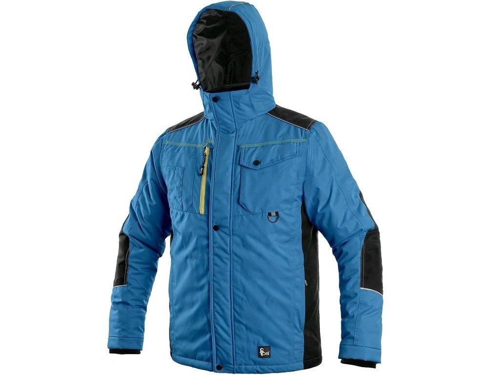 BALTIMORE zimní pánská bunda středně modrá-černá (Velikost/varianta 4XL)