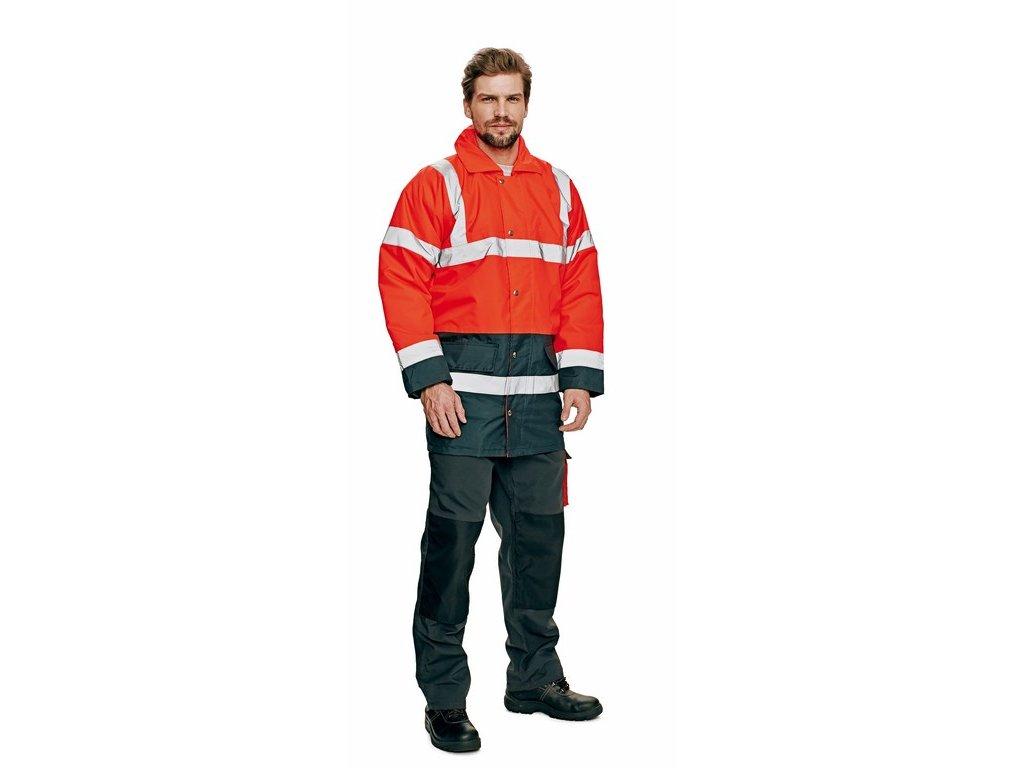 SEFTON výstražná bunda červená (Velikost/varianta 3XL)