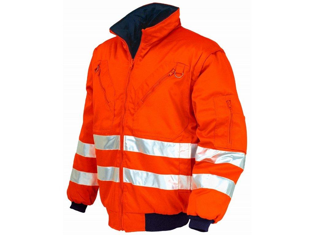 PILOT 047415 oboustraná reflexní bunda oranžová-modrá (Velikost/varianta 2XL)