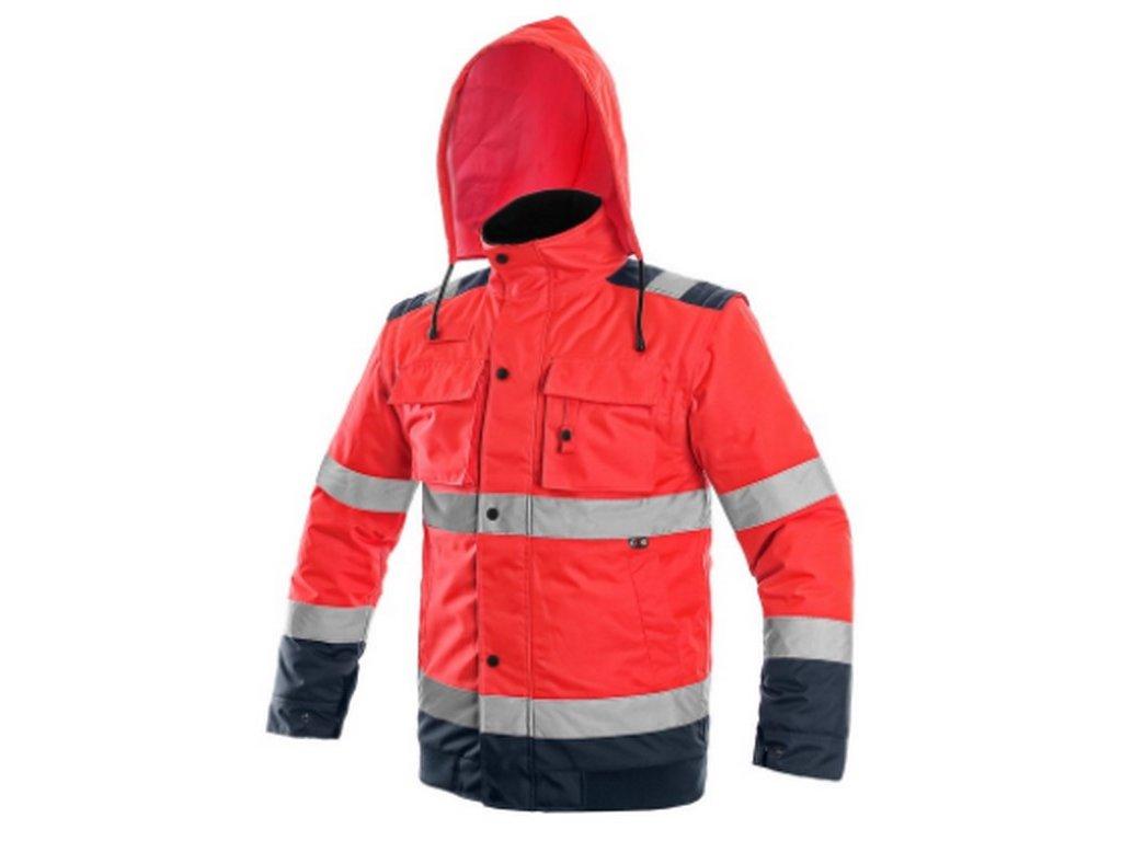 Canis CXS LUTON pánská výstražná bunda 2v1 červená modrá (Velikost/varianta 3XL)