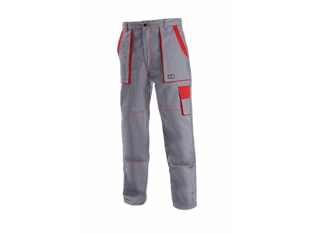 Canis CXS LUXY JOSEF monterkové kalhoty do pasu šedo-červené (Velikost/varianta 68)