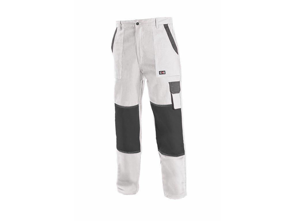 Canis CXS LUXY JOSEF monterkové kalhoty do pasu  bílo-šedé (Velikost/varianta 68)