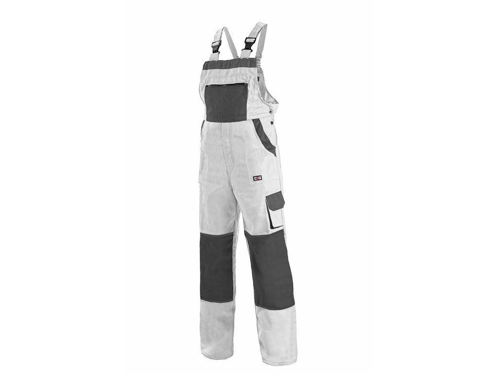 Canis CXS LUXY ROBIN kalhoty s náprsenkou bílo-šedé (Velikost/varianta 64)