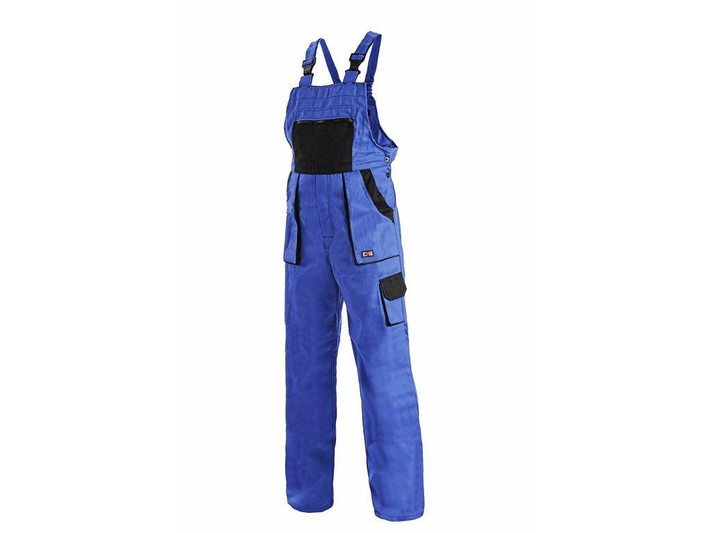 Canis CXS LUXY SABINA dámské kalhoty s náprsenkou modro-černé (Velikost/varianta 58)