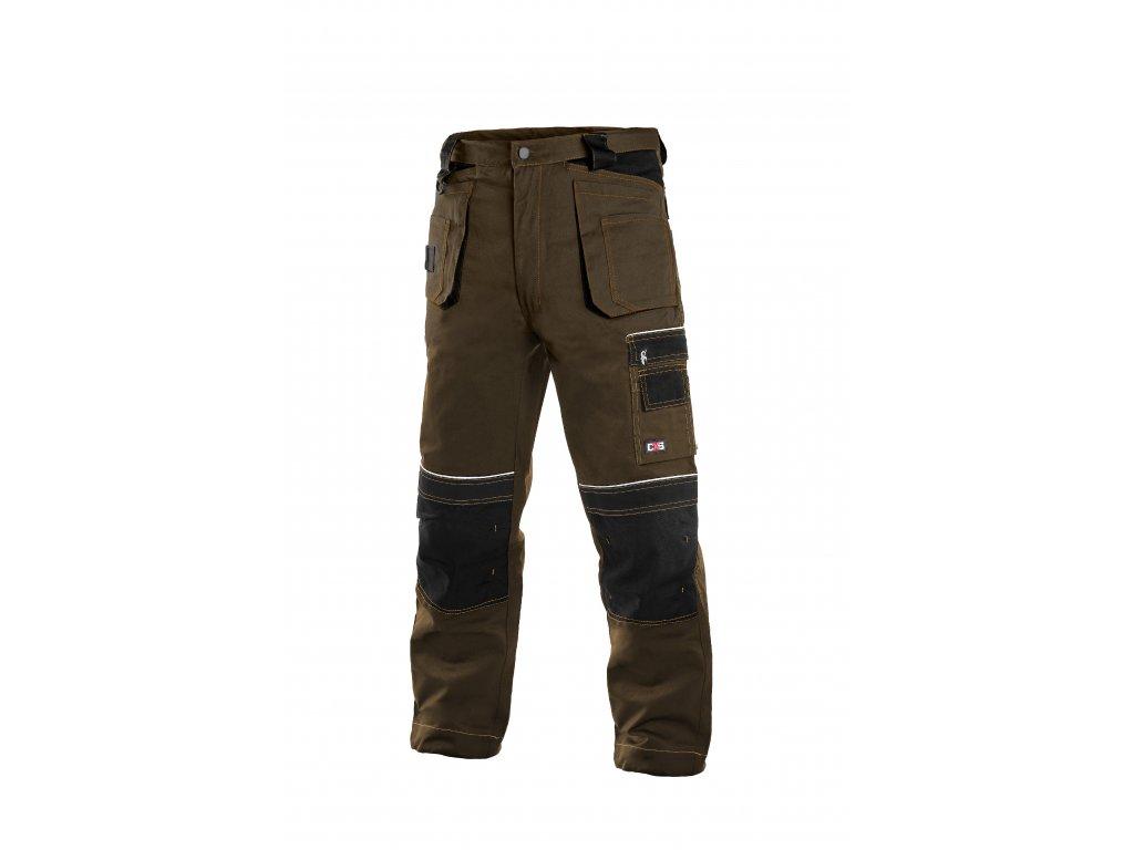 ORION TEODOR montérkové kalhoty do pasu hnědo - černé (Velikost/varianta 64)