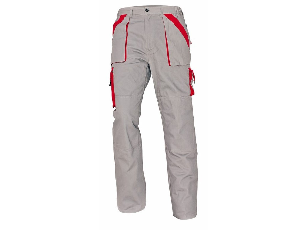 MAX montérkové kalhoty šedo-červené (Velikost/varianta 68)