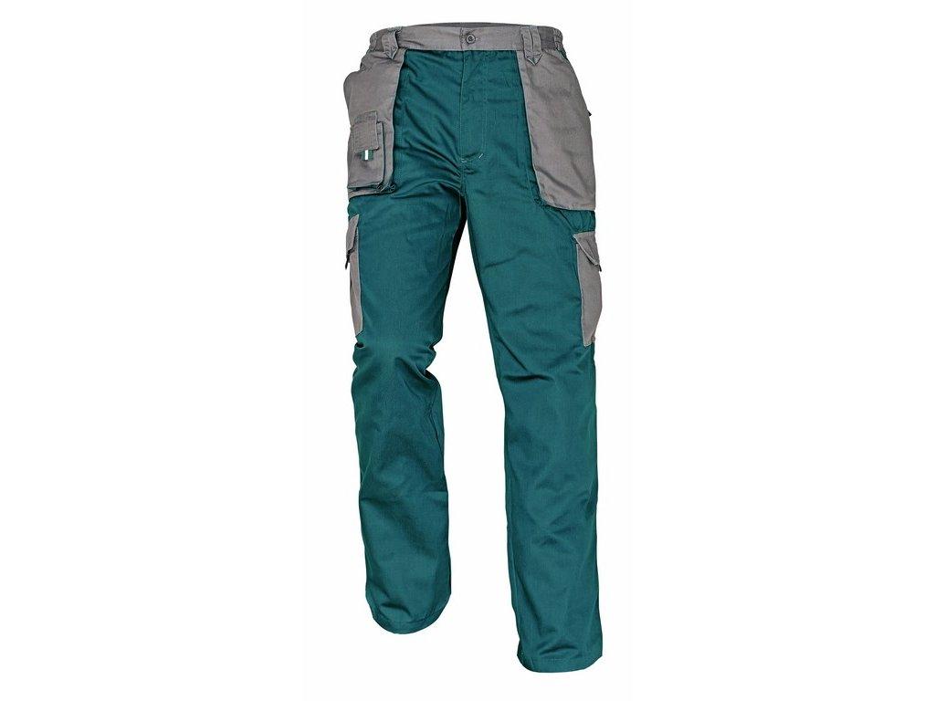 MAX EVOLUTION montérkové kalhoty prodl.vel. zeleno-šedé (Velikost/varianta 62)