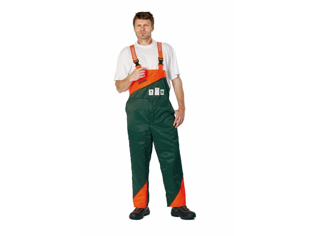 PLUTO montérkové kalhoty s laclem protiprořezové zelené (Velikost/varianta 68)