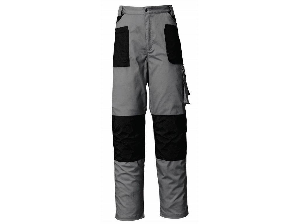 STRETCH pracovní kalhoty montérkové do pasu šedo-černé (Velikost/varianta 3XL)