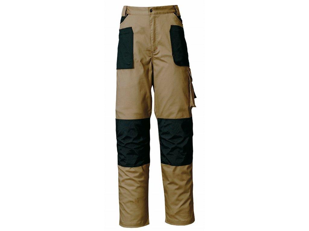 STRETCH pracovní kalhoty montérkové do pasu béžovo-černé (Velikost/varianta 2XL)