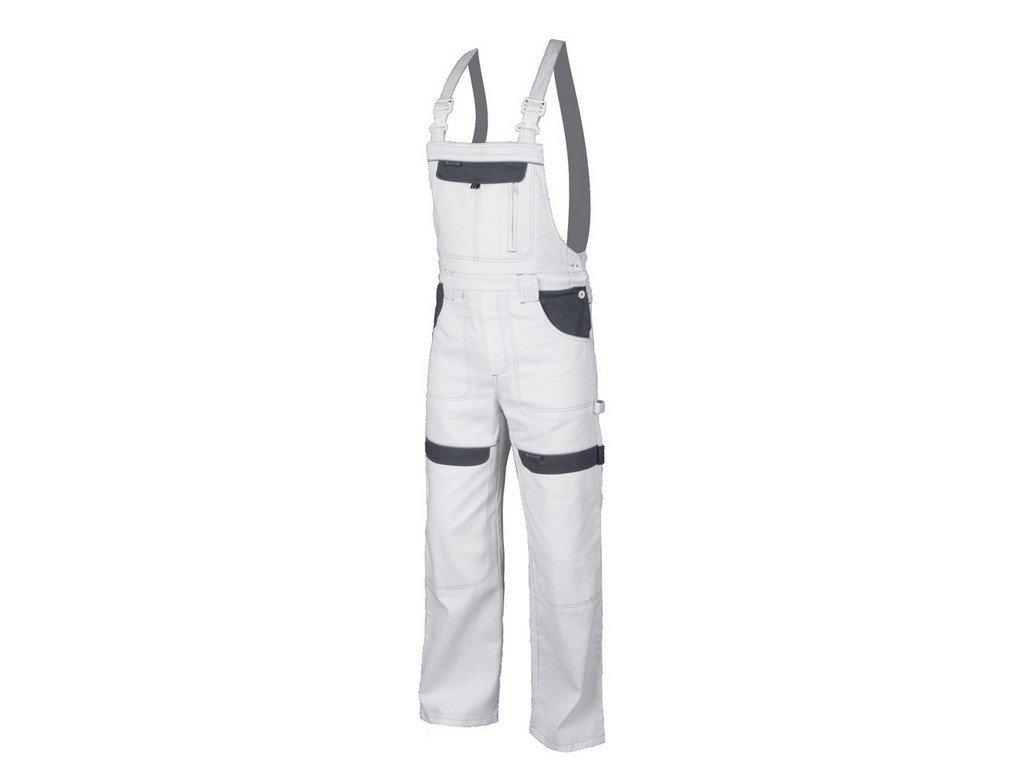 COOL TREND mont.kalhoty s náprsenkou bílo-šedé (Velikost/varianta 66)