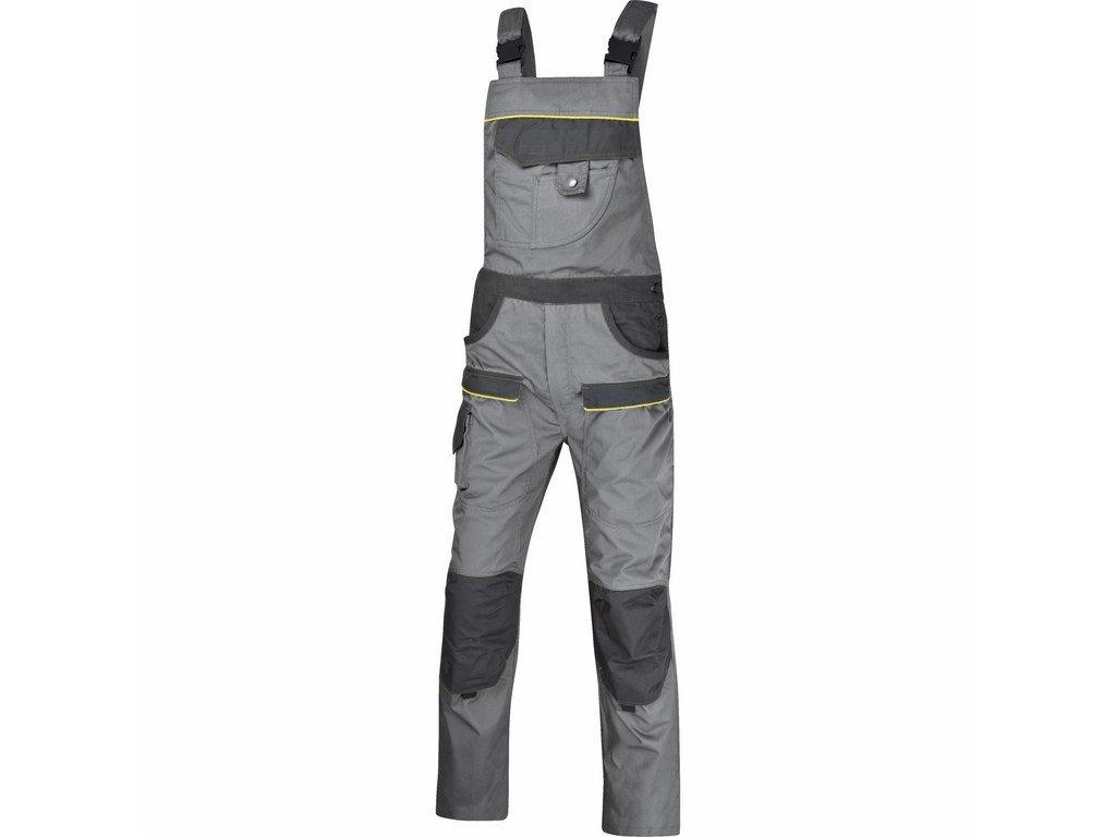 CORPORATE M2 monterkové kalhoty s náprsenkou šedé (Velikost/varianta 3XL)