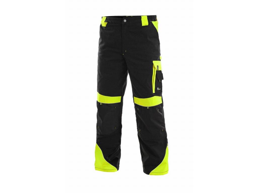 SIRIUS BRIGHTON monterkové kalhoty do pasu černo-žluté (Velikost/varianta 68)