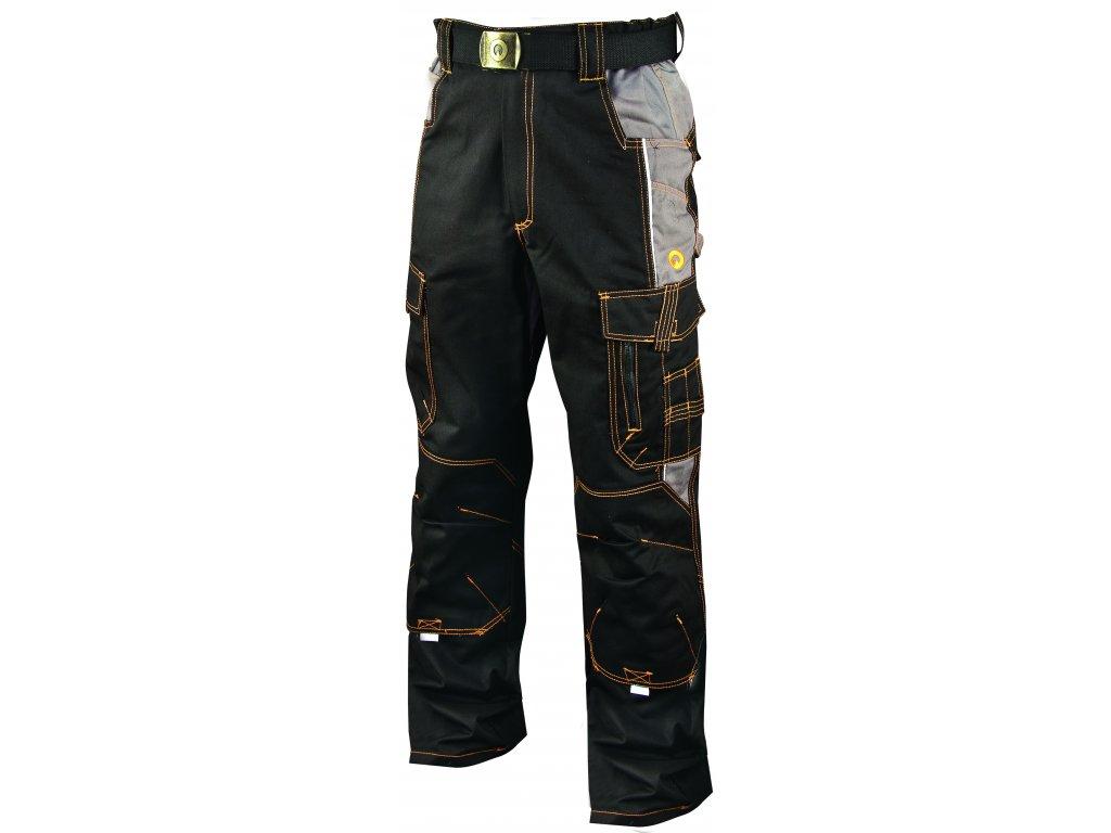 VISION O2 pracovní kalhoty monterkové do pasu černé (Velikost/varianta 64)