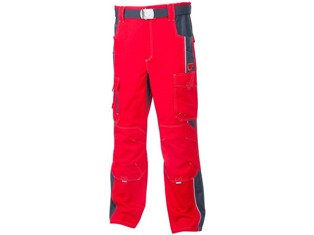 VISION pracovní kalhoty monterkové do pasu červené (Velikost/varianta 64)