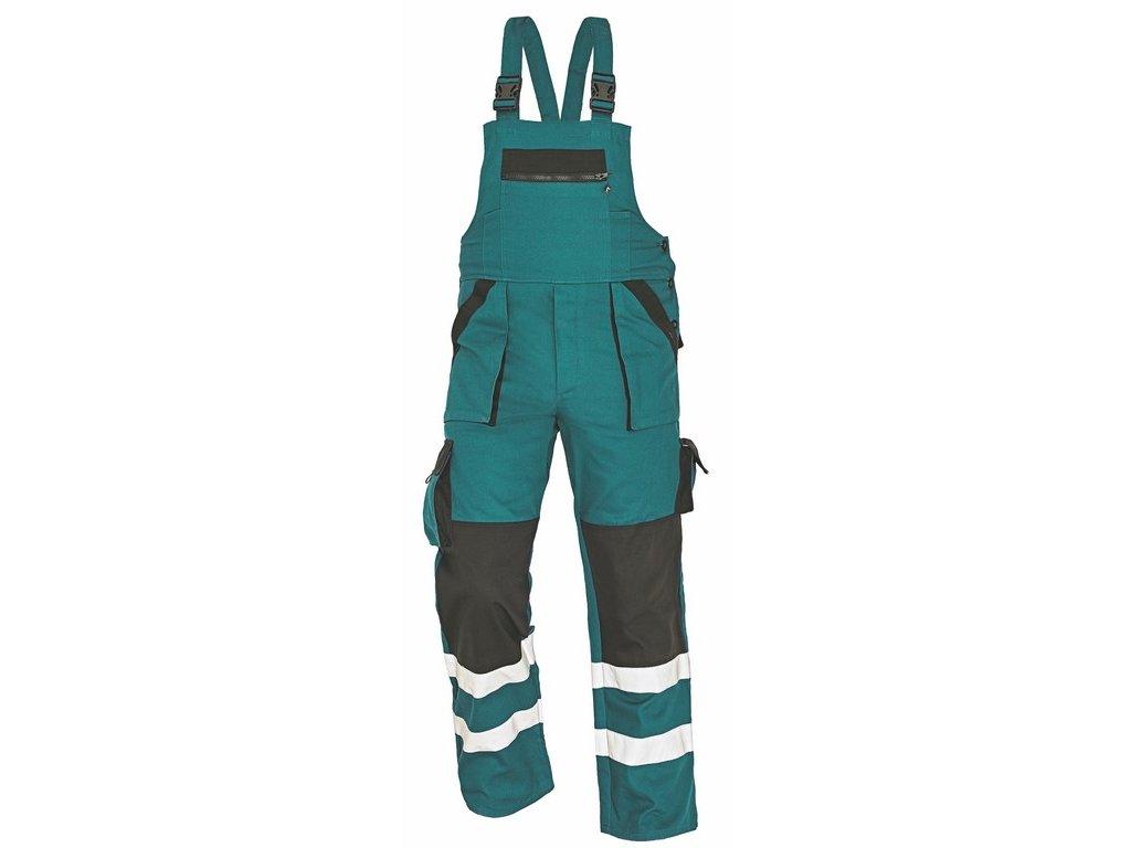 MAX RFLX montérkové kalhoty s laclem zelená-černá (Velikost/varianta 64)