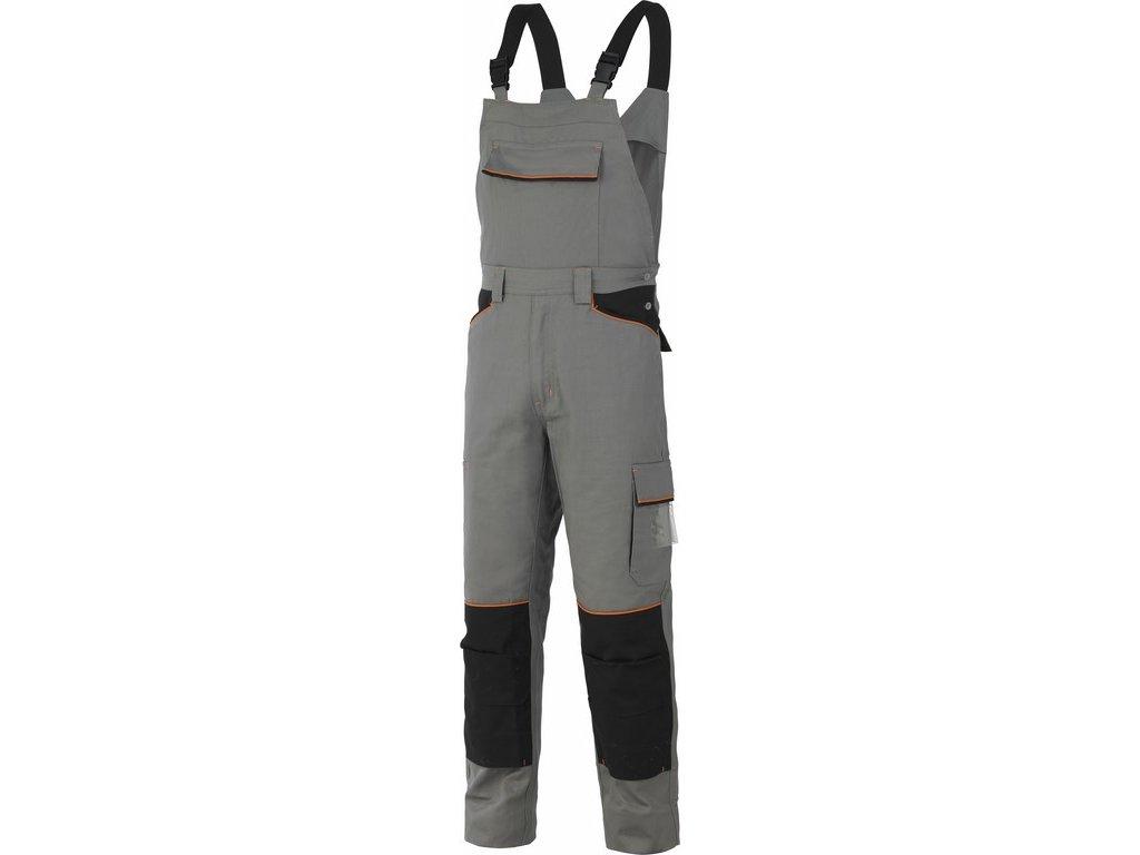 SHOT pracovní laclové kalhoty montérkové šedé (Velikost/varianta 3XL)