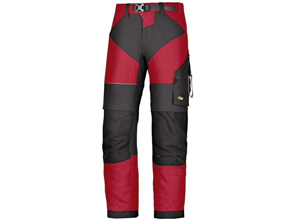 FLEXIWORK+pracovní kalhoty červené (Velikost/varianta 64)