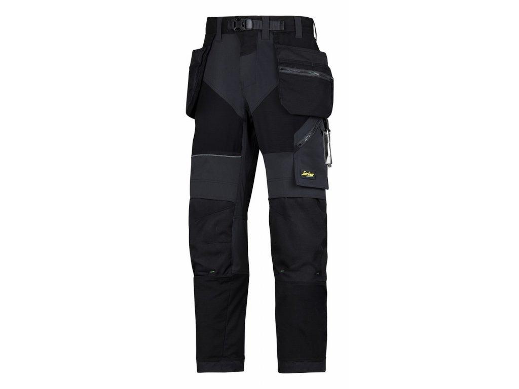 FLEXIWORK+ s PK pracovní kalhoty černé (Velikost/varianta 64)