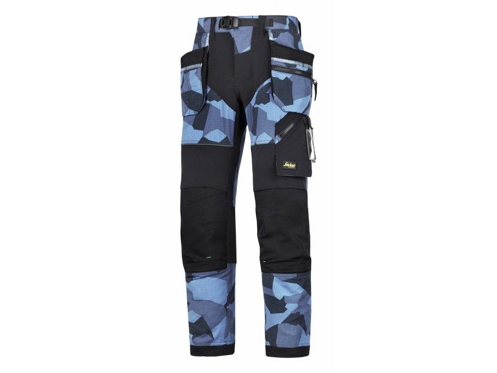 FLEXIWORK+ s PK pracovní kalhoty camouflage modré (Velikost/varianta 64)