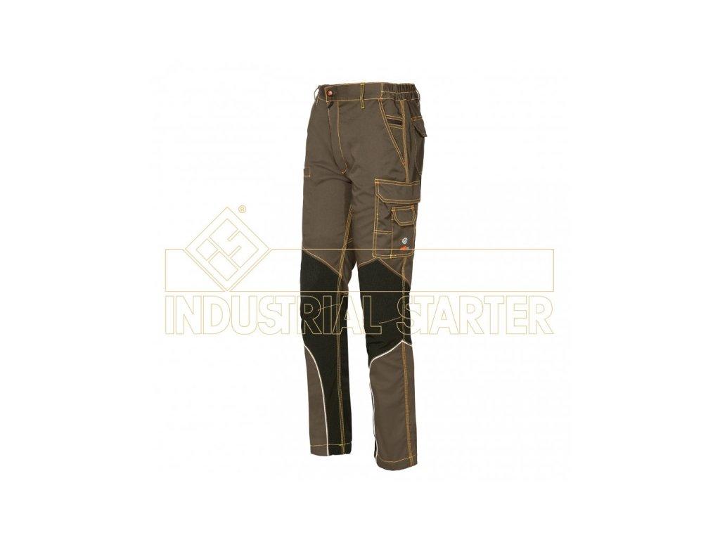 STRETCH EXTREME pracovní kalhoty montérkové khaki - černá (Velikost/varianta 3XL)