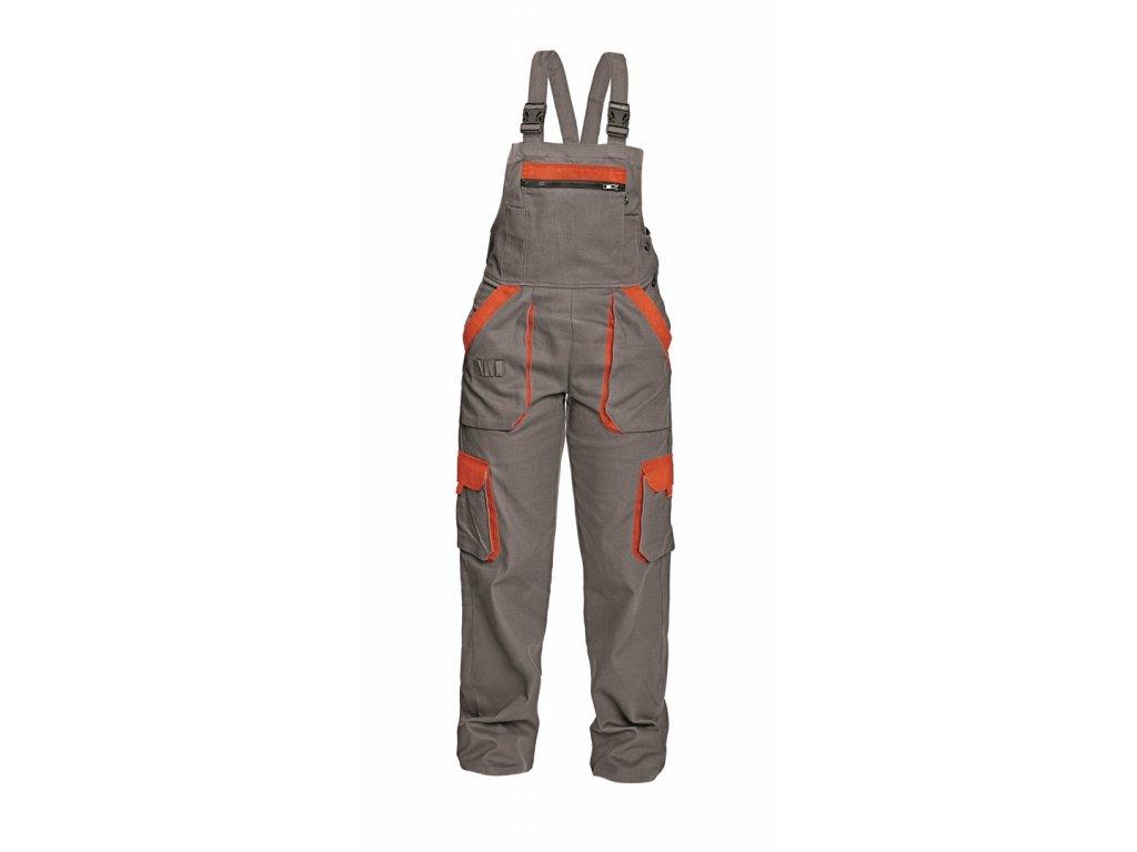 MAX LADY montérkové kalhoty s laclem šedo-oranžové (Velikost/varianta 50)