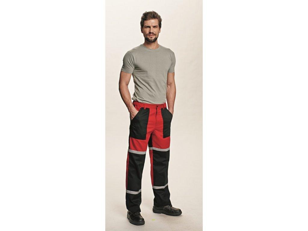 TAYRA montérkové kalhoty červeno-černá (Velikost/varianta 62)