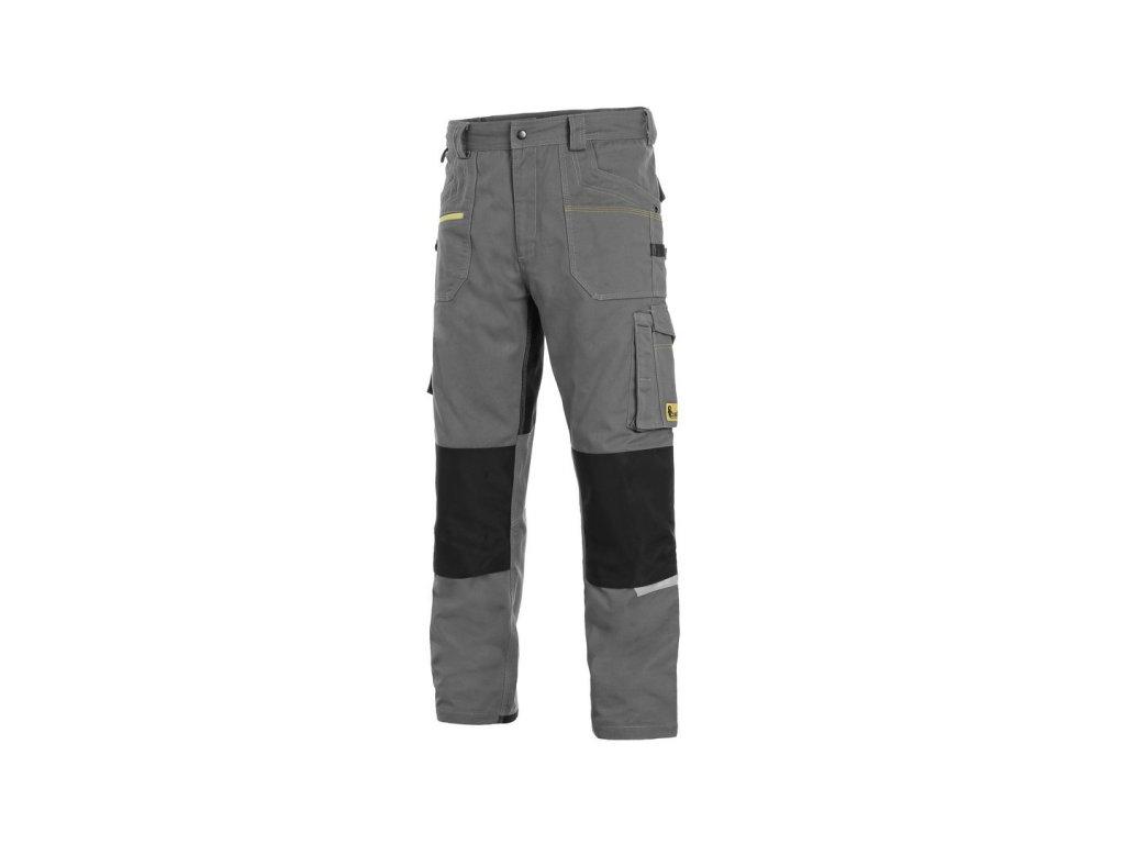 Canis CXS STRETCH monterkové kalhoty  šedo-černé (Velikost/varianta 64)