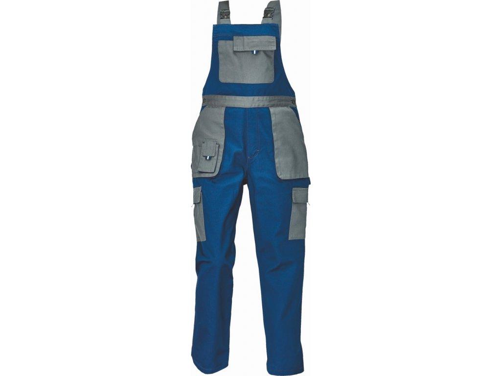 MAX EVOLUTION LADY  pracovní kalhoty s laclem modro-šedá (Velikost/varianta 54)