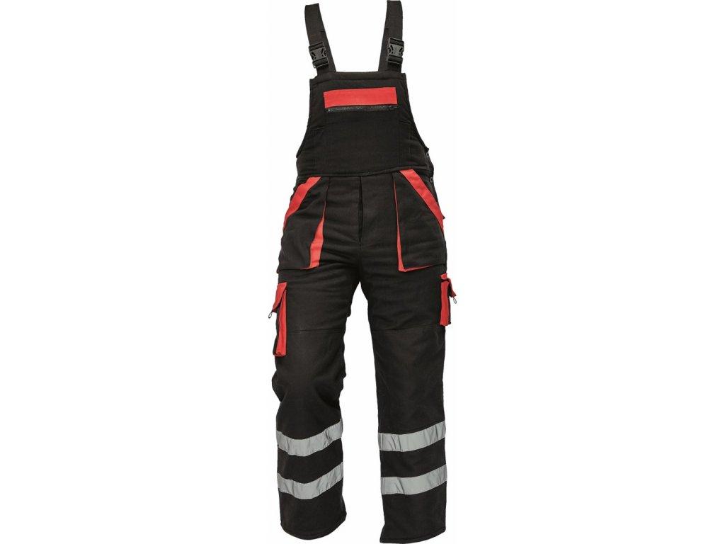 MAX WINTER RFLX zimní kalhoty s laclem černé (Velikost/varianta 64)